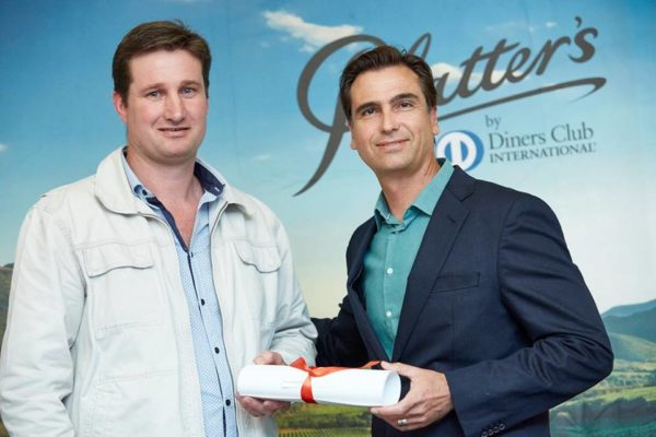 Albertus Louw From Perdeberg accepting the 5 Star Platter award